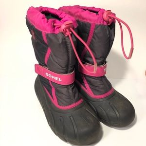 Girls Sorel winter snow boots good used condition